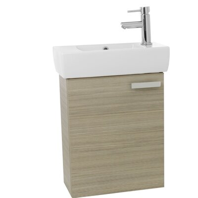 Cubical 19 Single Wall Mount Bathroom Vanity Set Base Finish: Larch Canapa