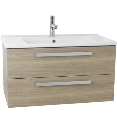 Dadila 33 Single Wall Mount Bathroom Vanity Set Base Finish: Style Oak