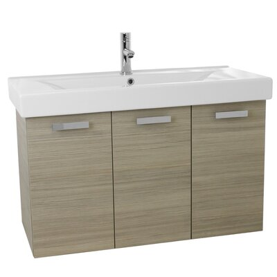 Cubical 39 Single Wall Mount Bathroom Vanity Set Base Finish: Larch Canapa
