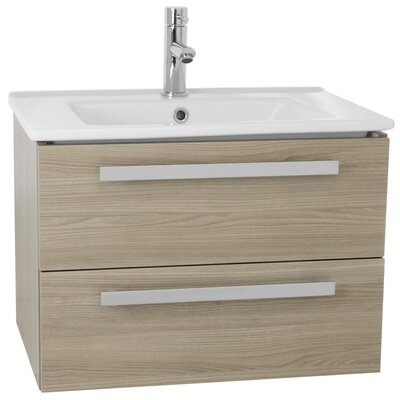 Dadila 25 Single Wall Mount Bathroom Vanity Set Base Finish: Style Oak