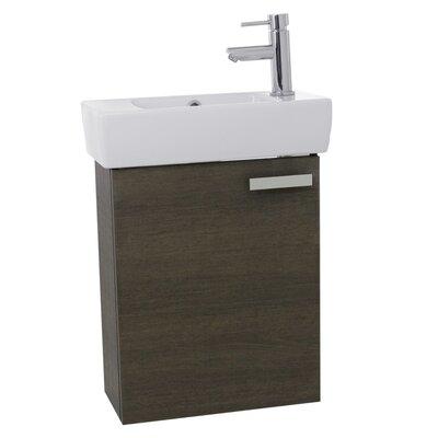 Cubical 19 Single Wall Mount Bathroom Vanity Set Base Finish: Gray Oak