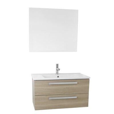 Dadila 33 Single Bathroom Vanity Set with Mirror Base Finish: Style Oak
