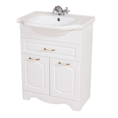 Classic 24 Single Bathroom Vanity Set Base Finish: White