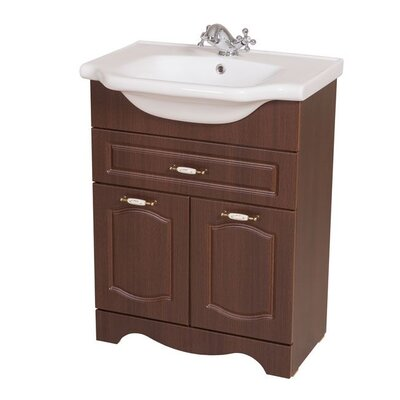 Classic 24 Single Bathroom Vanity Set Base Finish: Walnut