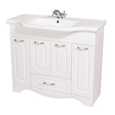 Classic 40 Single Bathroom Vanity Set Base Finish: White