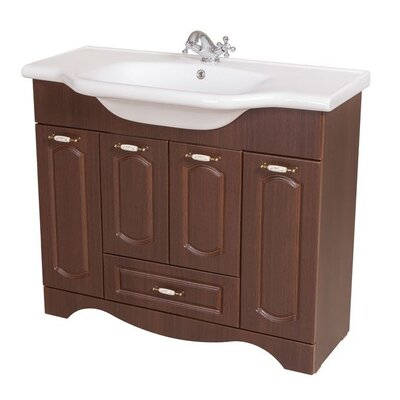 Classic 40 Single Bathroom Vanity Set Base Finish: Walnut