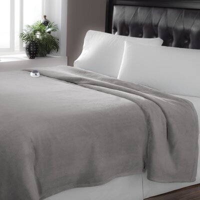 Low Voltage Technology Heated Electric Luxe Plush Warming Blanket Size: Queen