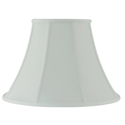 18 Fabric Bell Lamp Shade Color: White