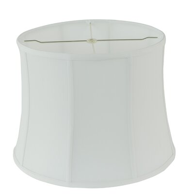 16 Fabric Bell Lamp shade Color: White