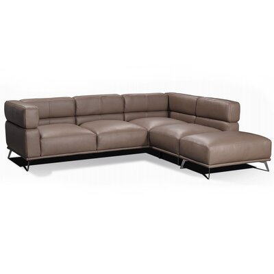 Palladio Leather Modular Sectional Orientation: Right Hand Facing