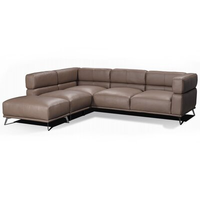 Palladio Leather Modular Sectional Orientation: Left Hand Facing