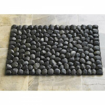 Riverstone Bath Rug Color: Black