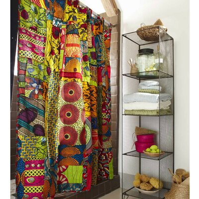 Fabric African Print Patchwork Shower Curtain