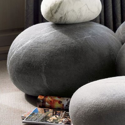 Stone Felted Wool Floor Pillow