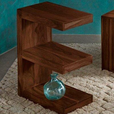 Sheesham Wood E-Shaped End Table