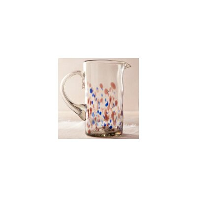 Flecked and Specked Recycled Glass Pitcher V2294 COB