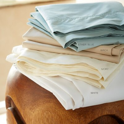 Classic 300 Thread Count Egyptian-Quality Cotton Sheet Set Color: Ether Blue, Size: 108 L x 102 W