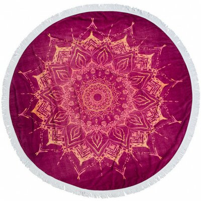 Round Fringed Blanket Beach Towel