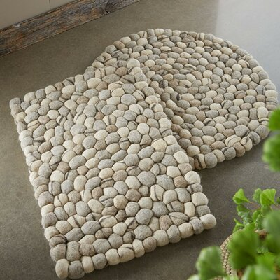 Elmfield Felted Pebble Hand Woven Wool Natural Area Rug