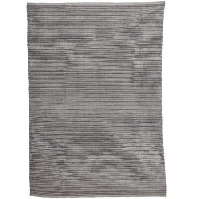Valenzuela Recycled Rubber Hand-Woven Gray Indoor/Outdoor Area Rug