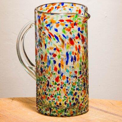 Crestline Hand Blown Confetti Recycled Glass 64 oz. Pitcher BLMT8565 43204509