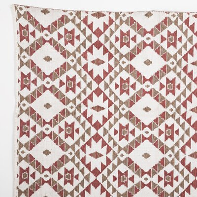 Alvah Reversible Hand Woven Red Indoor/Outdoor Area Rug