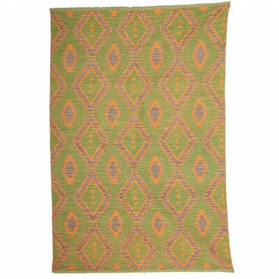 Cumberland Kilim Hand-Woven Cotton Yellow Area Rug