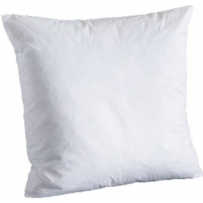 Down Filled 100% Cotton Pillow Insert Size: 16 x 16