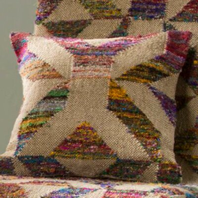 Tabernash Kaleidoscopic Kilim Square Pillow Cover