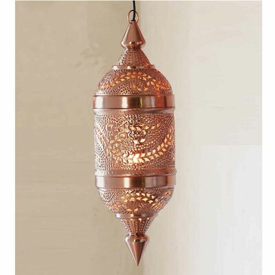 Crescent City 1-Light Geometric Pendant Finish: Bright Copper