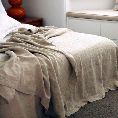 Linen Bedspread Color: Natural
