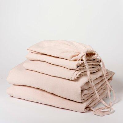 Linen Sheet Set Size: Queen, Color: Blush