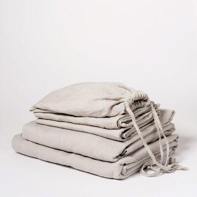 Linen Sheet Set Size: King, Color: Smoke Gray