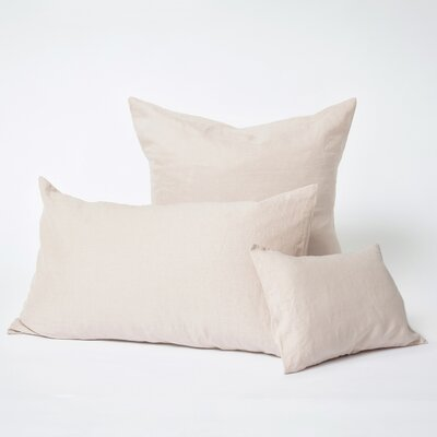 Linen Euro Pillowcase Size: Euro, Color: Blush
