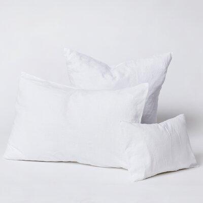 Linen Euro Pillowcase Color: White, Size: King
