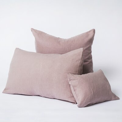 Linen Euro Pillowcase Size: Standard, Color: Dusk