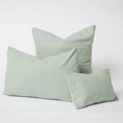 Linen Euro Pillowcase Color: Sage, Size: Euro