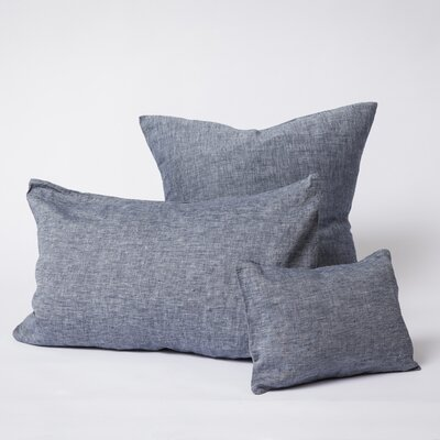 Linen Euro Pillowcase Color: Indigo, Size: Euro