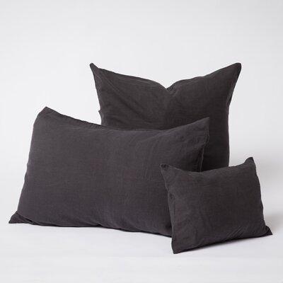 Linen Euro Pillowcase Size: Standard, Color: Black
