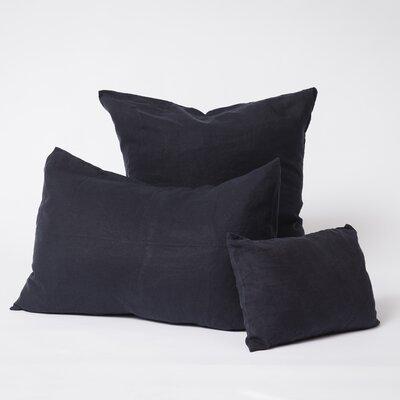 Linen Euro Pillowcase Size: Standard, Color: Navy