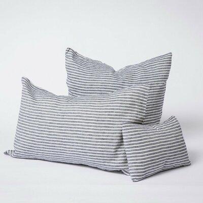 Linen Euro Pillowcase Size: King, Color: Striped