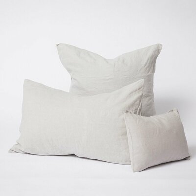 Linen Euro Pillowcase Color: Smoke Gray, Size: King