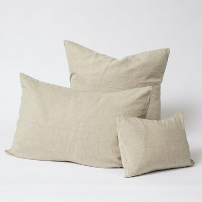 Linen Euro Pillowcase Size: Standard, Color: Natural