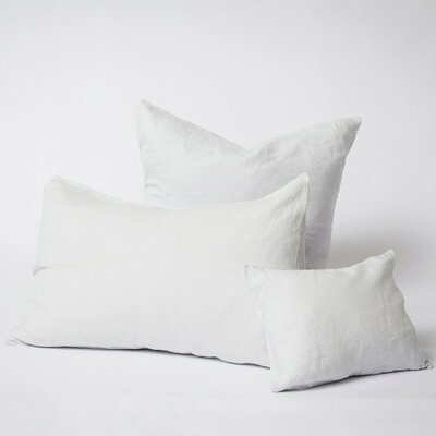 Linen Euro Pillowcase Size: Standard, Color: Ice Blue