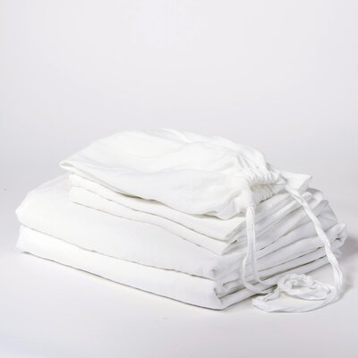 Linen Sheet Set Size: King, Color: White