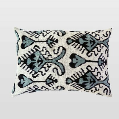 Yesil Silk Velvet Lumbar Pillow