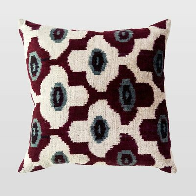 Roza Silk Velvet Throw Pillow