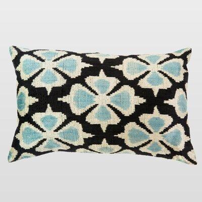 Siyah Silk Velvet Lumbar Pillow