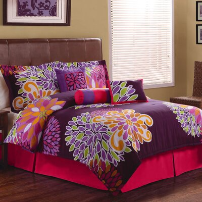 Flower Show Comforter Set Size: Queen