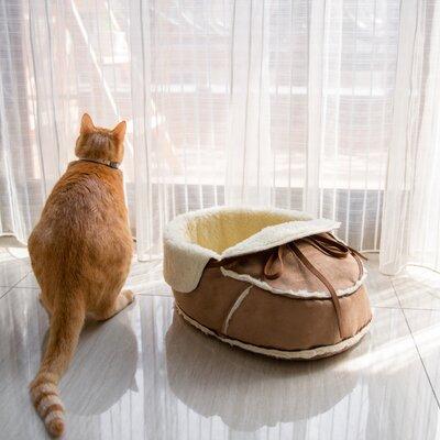 Moccasin Pet Bed Size: 16 L x 12.5 W